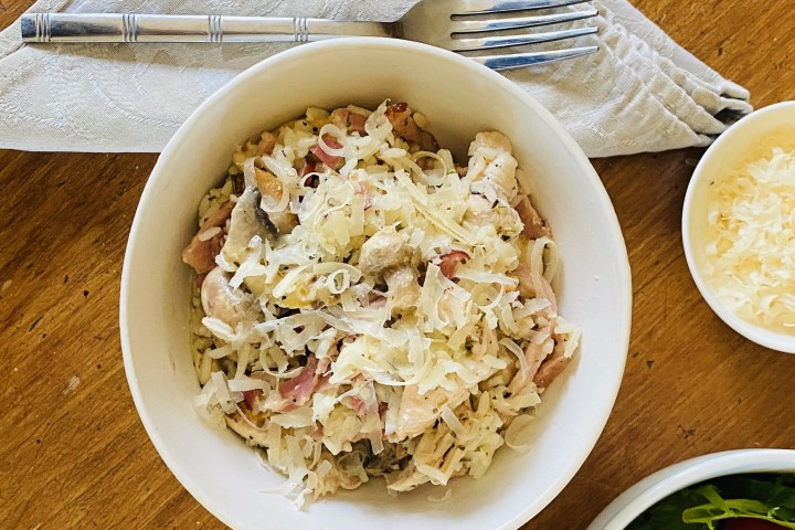 Chicken-and-Mushroom-Quick-Risotto